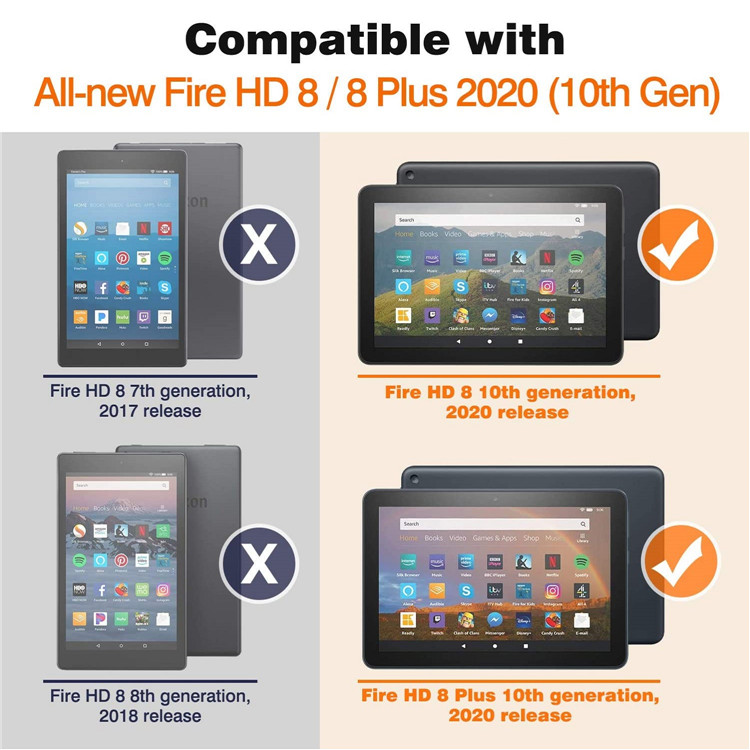 MoKo Slim Folding Stand Smart Cover for Kindle Fire HD 8/Fire HD 8 Plus 10th Generation 2020
