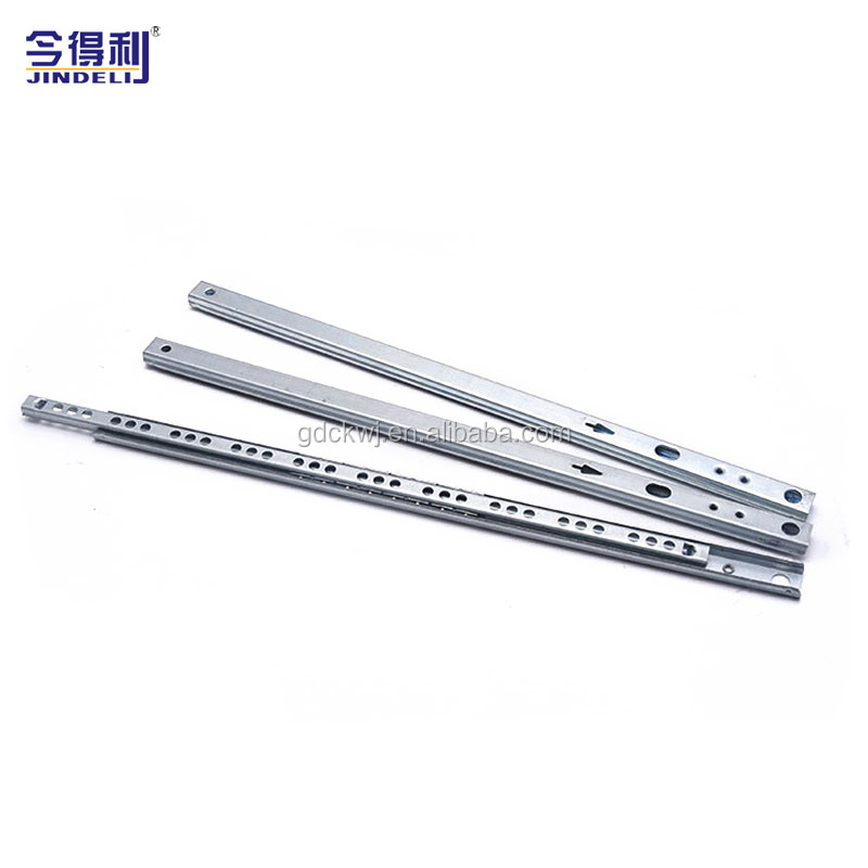 27mm Furniture Drawer Slide Mini Double Side Kitchen Cabinet Ball Bearing Drawer Slide Channel