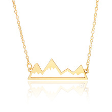 Or Rose Triangle Chaîne <span class=keywords><strong>Pendentif</strong></span> Voyage Collier Pour <span class=keywords><strong>Les</strong></span> Femmes