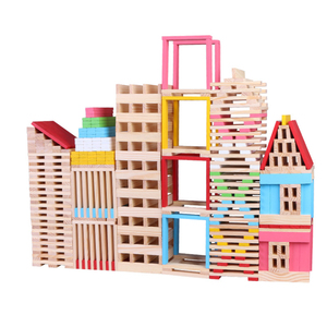 150 Pieces Model Material Bricks Construct Architecture Building Block Wood Toys For Kids
