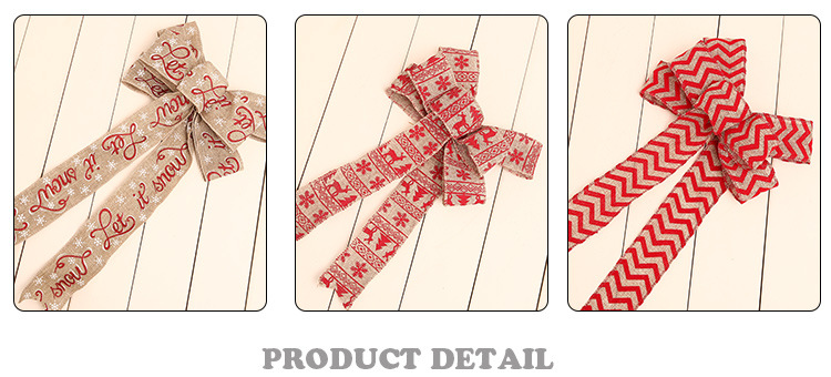 Burlap Ribbon with Wired Edge Gift Wrapping Christmas Tree Ribbon Wreath Bows Trims Decorations Assorted Rustic DIY