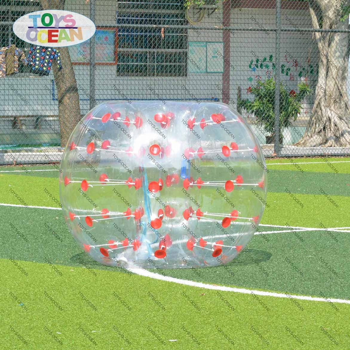 bumper inflatable transparent bubble zorb ball toys for play on grass