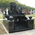 Granite Monument Cemetery Monument Granite Japanese Style Tombstone Monument Granite Vase
