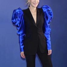 CHICEVER лоскутный хит цветной Женский блейзер с зазубриной, длинный рукав, высокая талия, женские блейзеры 2020, модная одежда, новинка(Китай)