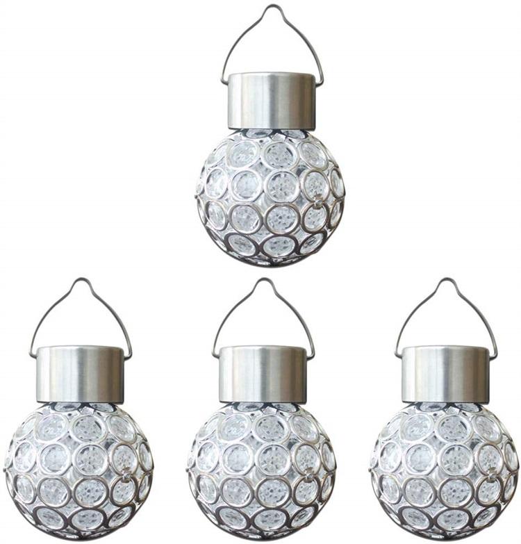 Hängen Solar Lichter Weihnachten Hof Dekoration, Weiß LED Solar Knistern Welt Hängen Lichter Wasserdichte Outdoor