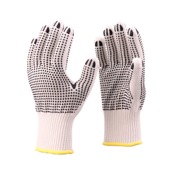 Cotton Cloth Working Gloves Xingyu PVC Dotted Cotton Knitted Gloves Cotton Gloves For Industrial Use