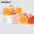 16PCS yummy pink pumpkin coach jar coconut jelly candy China jelly slippers