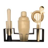 Deluxe tow bar accessories metal mixer cocktail shaker set with stand