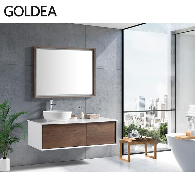 Italian bathroom vanity fancy wall bathroom vanity cabinet with led mirror