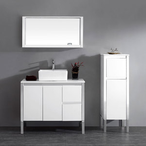 China Supplier Top Quality Bathroom Furniture Wash Basin And Stainless Steel Cabinet For India Market
