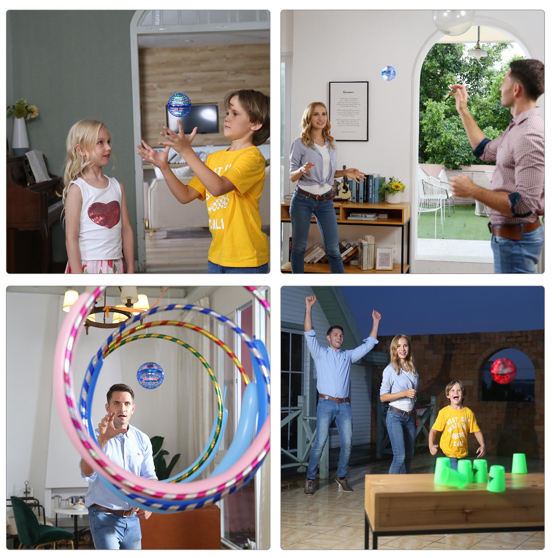 Flynova Pro:Boomerang spinner with endless tricks Dynamic lights Safe for children Drop-resistant Tripled battery life
