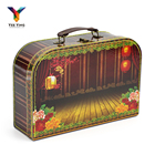 Mini Custom Cheap Kraft Carton Paper Box Recycle Small Gift Package Cover Set Cardboard Suitcase