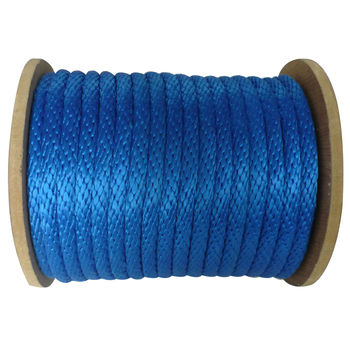 Solid braided Blue 3/8 inch polypropylene Sailboats Sailing Rigging Flag Flying Poly rope