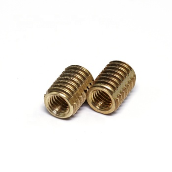 Stainless steel self tapping threaded inserts for plastics