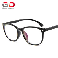 Retro rivet Glasses frame man women rectangle Eyewear of computer nerd optical spectacle frames myopia eyeglasses frame