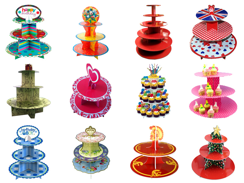3 tiers cute tortoise paper cupcake stand in lovely animal shape