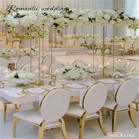 Cheap Square Frame Flower Vase Column Stand For Wedding Event Party Decoration
