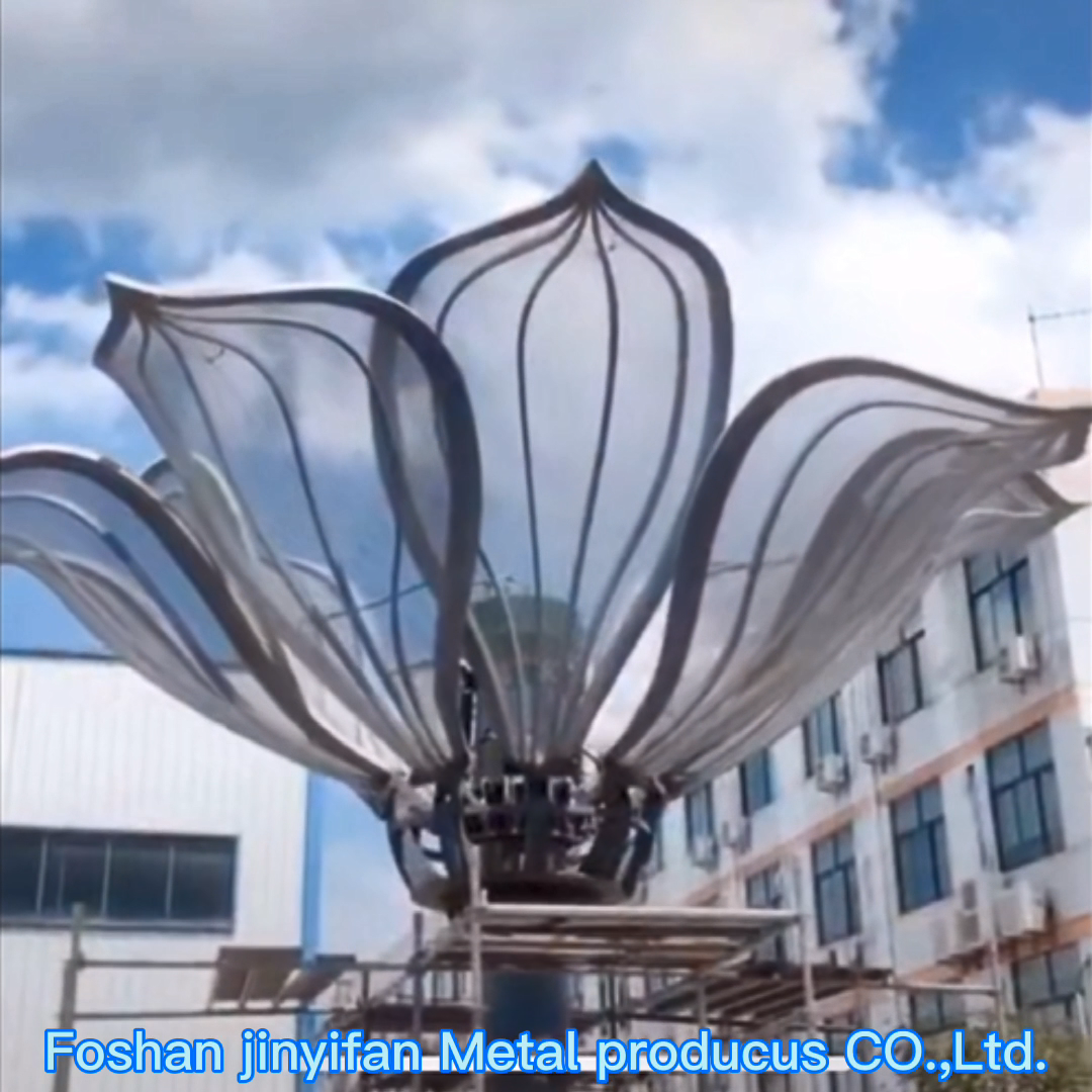 Y712 Factory Customized Courtyard Decorative Stainless Steel Sculpture