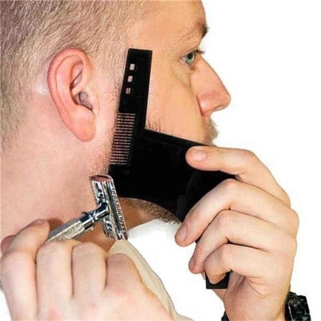 Beard Shaping Template Model Double Sided Beard Comb Men Shaving Tools Beard Cut Beauty Comb