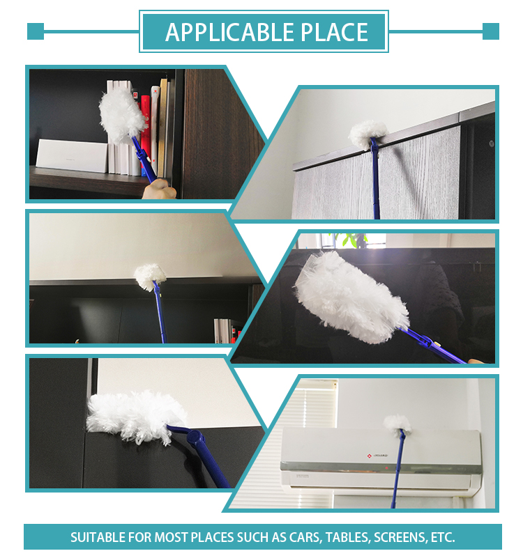 Flexible Microfiber Nonwoven Household Cleaning Multi Angle Extendable Duster