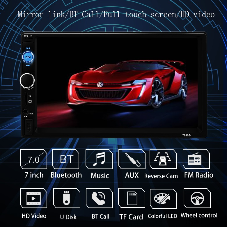 Hohe qualität 7 inch multimedia manuelle univers radio bluetooth auto mp5 player