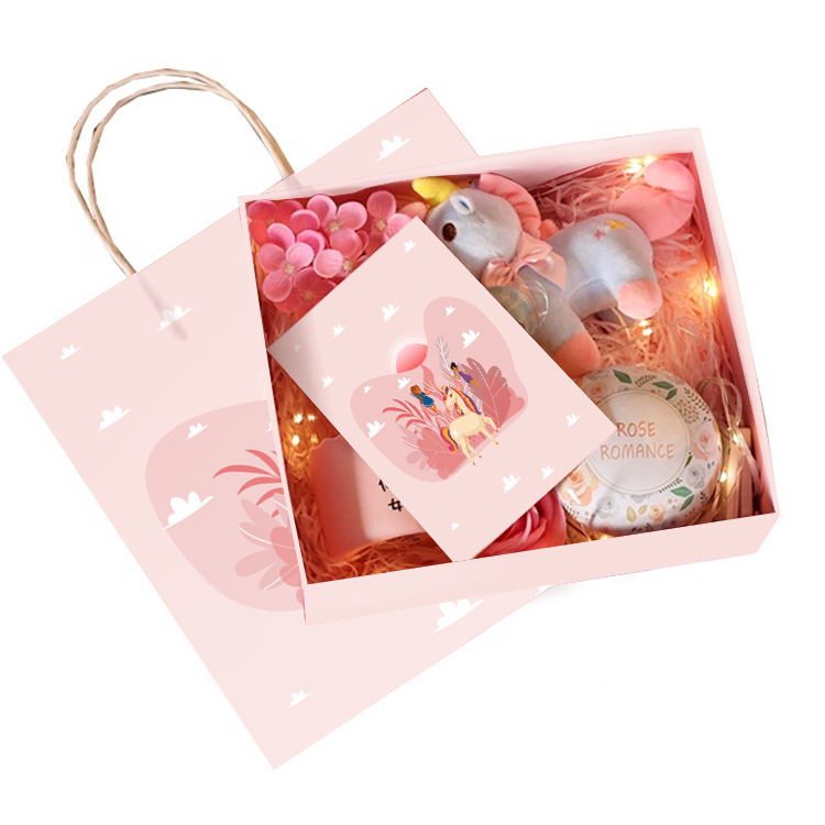 Custom Paper Gift Boxes Packing  baby gift set