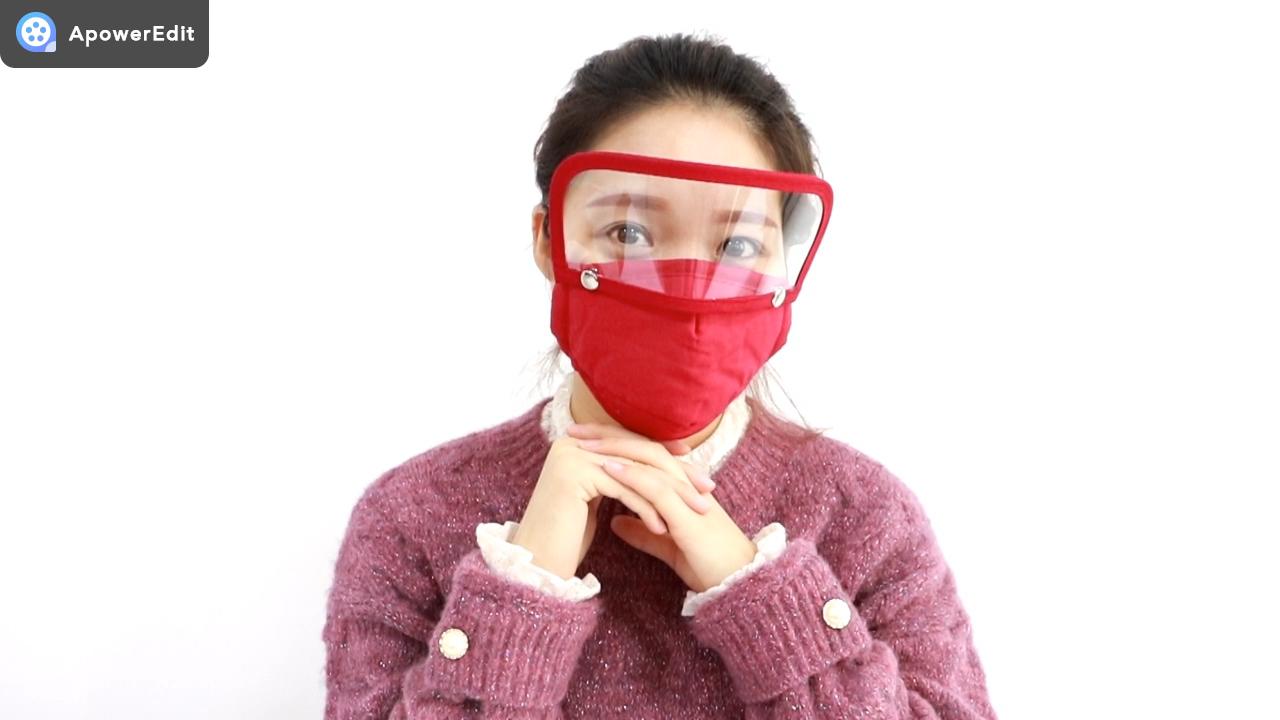 אופנה facemask לשימוש חוזר כותנה facemask בד facemask עם עין מגן מגן