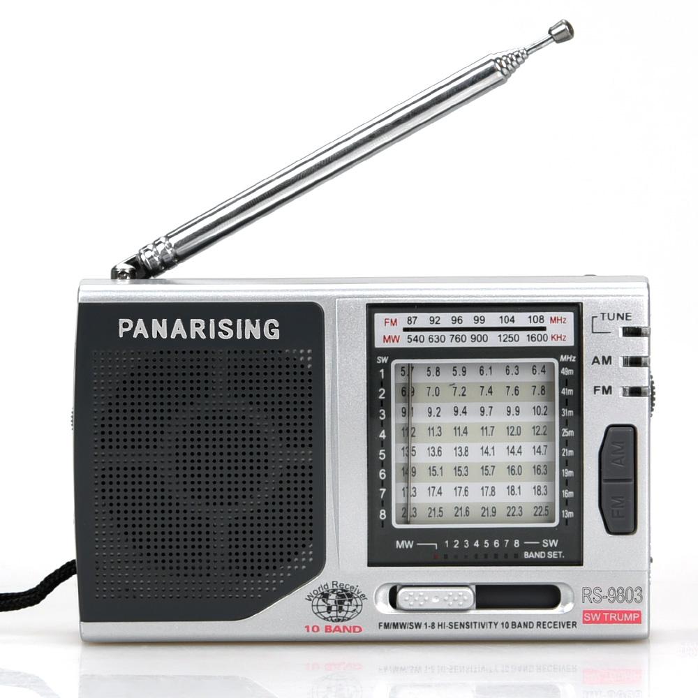 Pabrik Grosir AM/FM/SW 1-10 10 Band Mini Radio dengan Portable Radio untuk Sensitivitas Tinggi