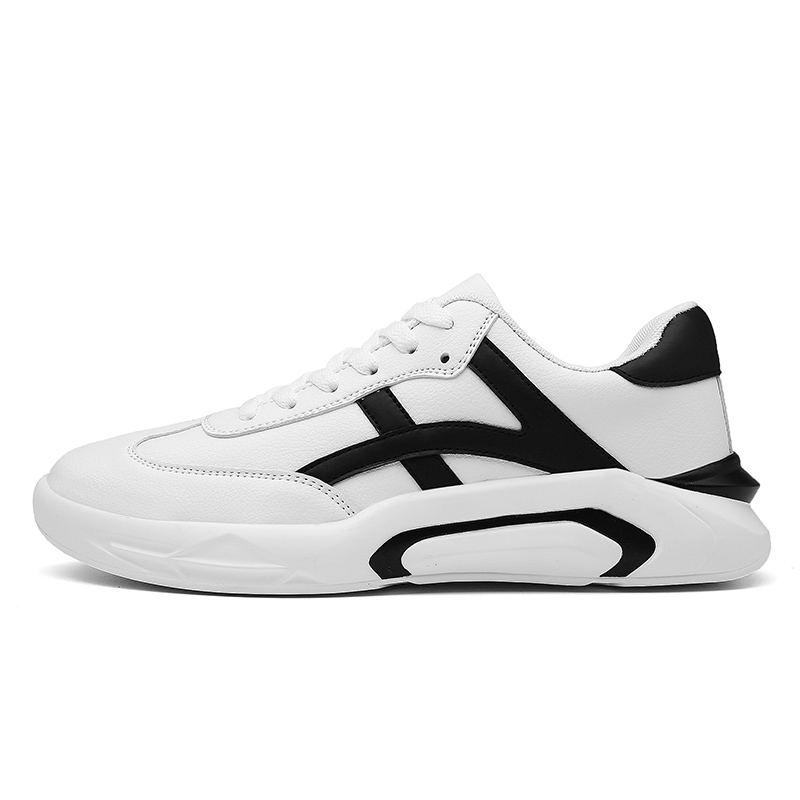 Fashion sneakers for men,White casual men shoes,pu leather sneakers