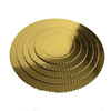 Compressed paper Sturdy Gold cake circle,scalloped cake board gold