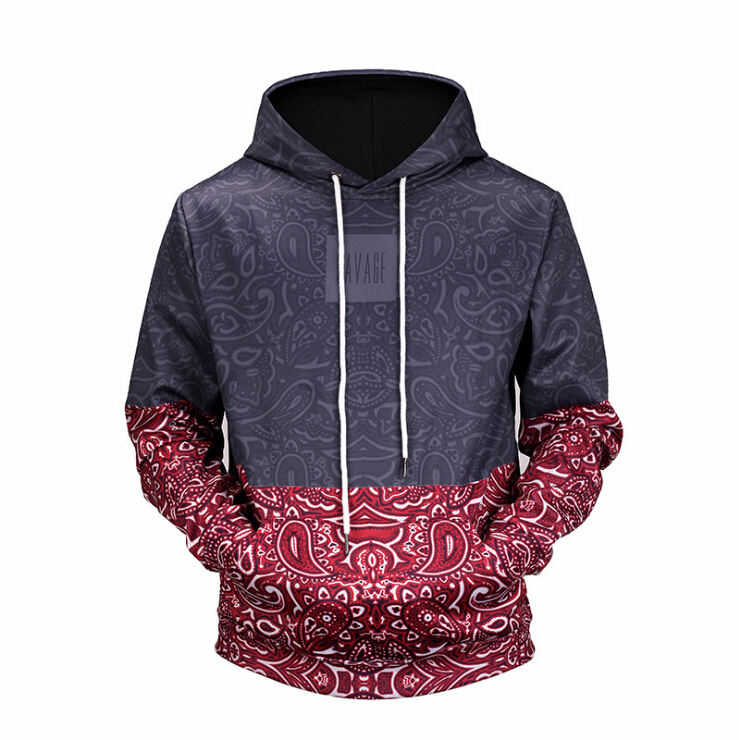 Unisex Casual Pocket Drawstring Hooded Sweatshirt 3D Printed Hoodies