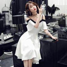 Элегантные платья для выпускного вечера It's Yiiya AR469 с оборками и вырезом лодочкой, белые вечерние платья, элегантные платья на бретельках, ...(Китай)