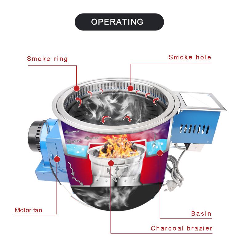 Coreano senza fumo coperta stove top hibachi griglie per la vendita