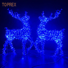 Lights Christmas Decoration 3d Outdoor Life Size Blue White Led Wire Reindeer With Lights