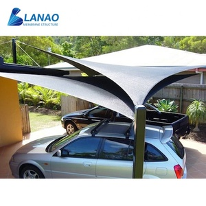 Modern design membrane structure outdoor waterproof car parking shade tent shelter carport car umbrella cover
