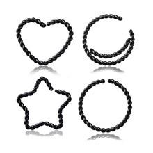1 шт. медные кольца для ушей набор носоупоров перегородка Пирсинг клипса спиральное ухо бровей кольцо для козелка для женщин ювелирные изде...(China)
