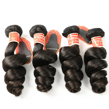 Large stock wholesale price tangle free 100% virgin brazilian remy human hair loose wave