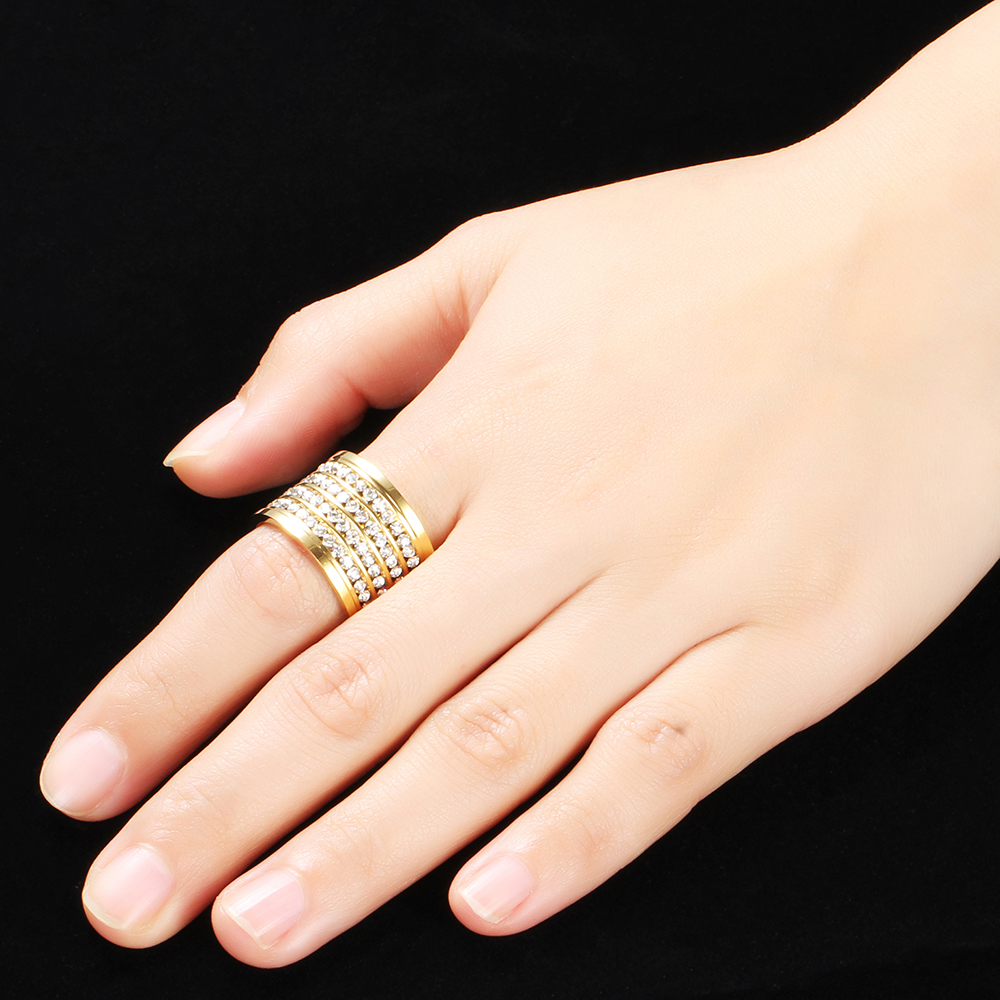 18K Gold Plated 316L Stainless Steel Rings for women