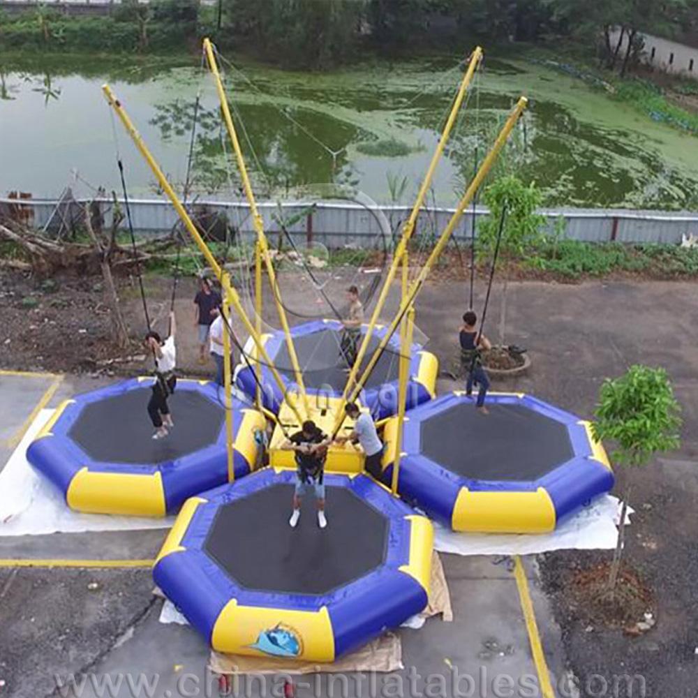 Коммерческий надувной банджи батут детский банджи прыжки оборудование для продажи надувные спортивные игры