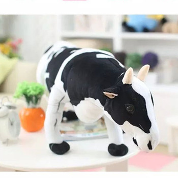 Cute large collectable animal ride 3d face with stuffed cow plush toy