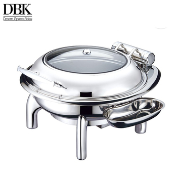 ODM OEM Heavy Duty Oblong Roll Top Induction Chafer / Chafing Dishes for Sale