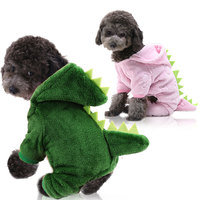 dinosaur four legged transformed into warm autumn winter wholesale custom designer apparel pet cat dog clothes