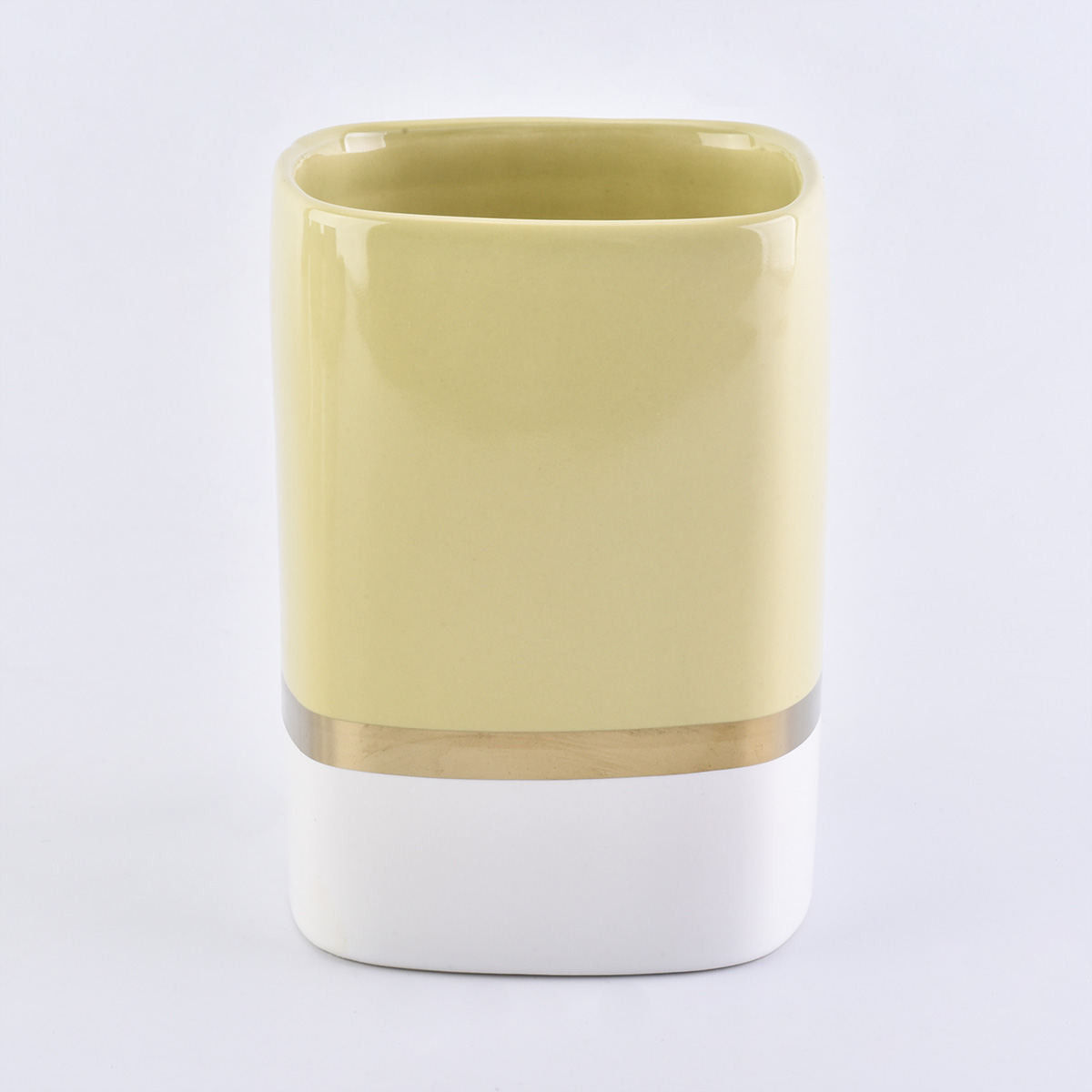 Square Shaped Ceramic Jars For Candle Making