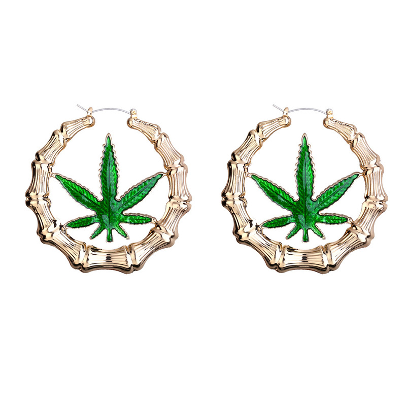 America Exaggerated Enamel Gold Hoop <strong>Earring</strong> Maple Leaf <strong>Rose</strong> <strong>flower</strong> <strong>Earrings</strong> Oversize Custom Bamboo Hoops For Girls Jewelry