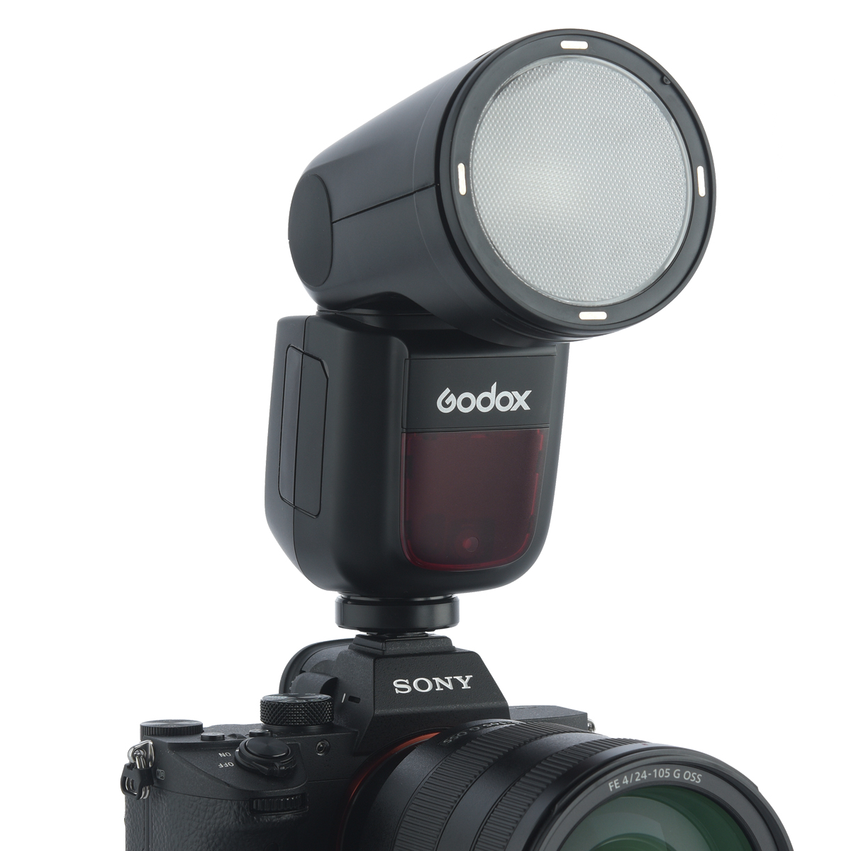 In Stock Godox <strong>V1</strong> on camera Flash V1C TTL <strong>1</strong>/8000 HSS battery Speedlite Flash For all brands camera