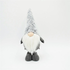 Christmas Decoration Supplies Elf Plush Gnome 25 Inch Handcrafted Decor Nordic Elf Ornament Swedish Tomte Christmas Grey Fuzzy Plush Gnome For Home Decoration