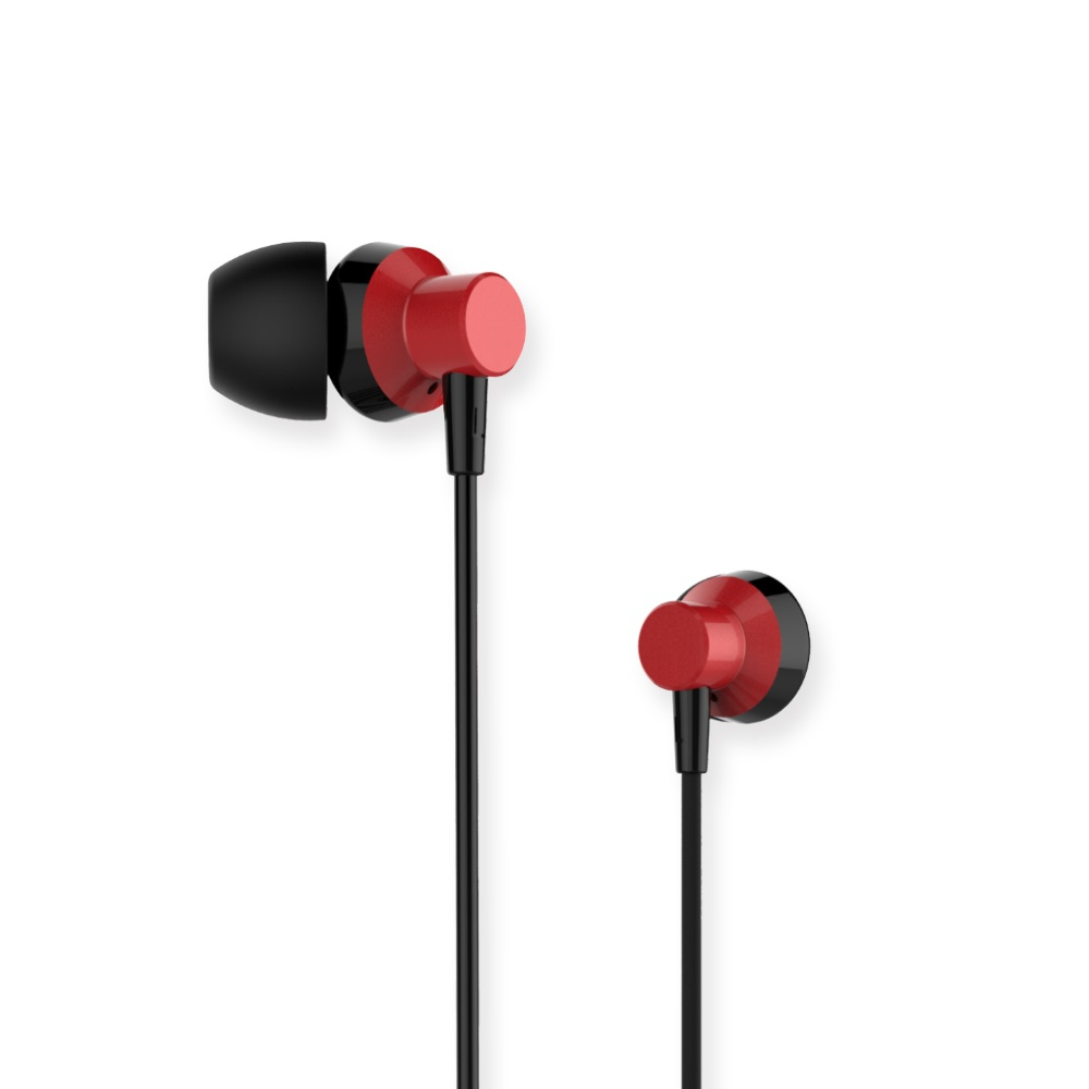 Remax RM 512หูฟังอินเอียร์โลหะ,หูฟังกีฬาแบบมีสายพร้อมไมโครโฟน