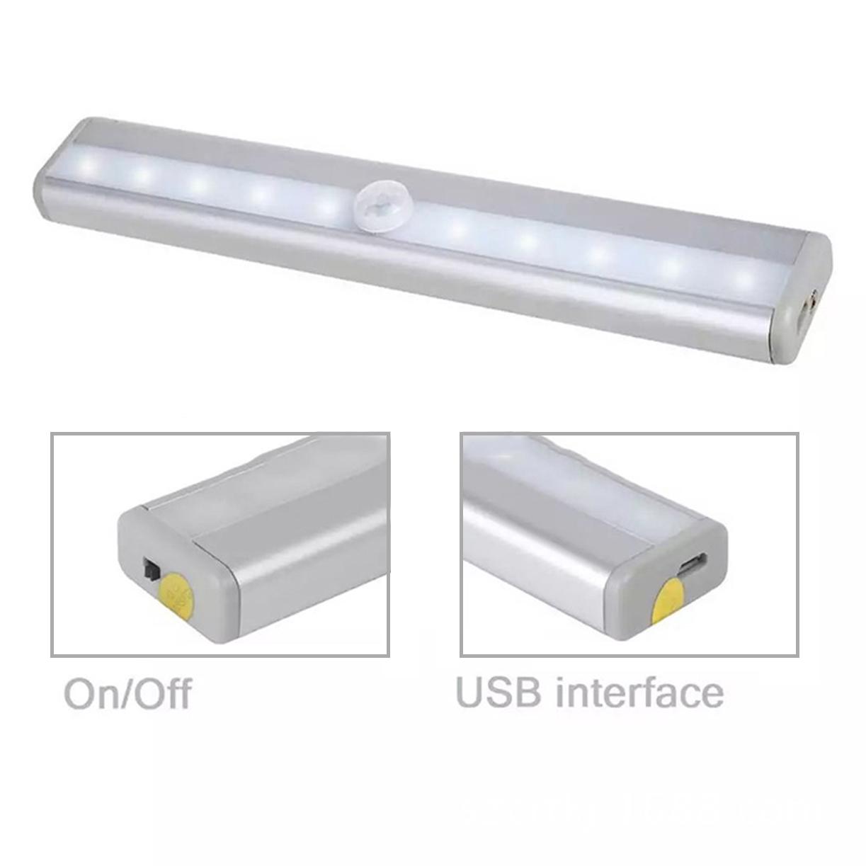 Alimentado por batería mini armario pir noche led sensor de movimiento de luz led que funcionan con batería lighg