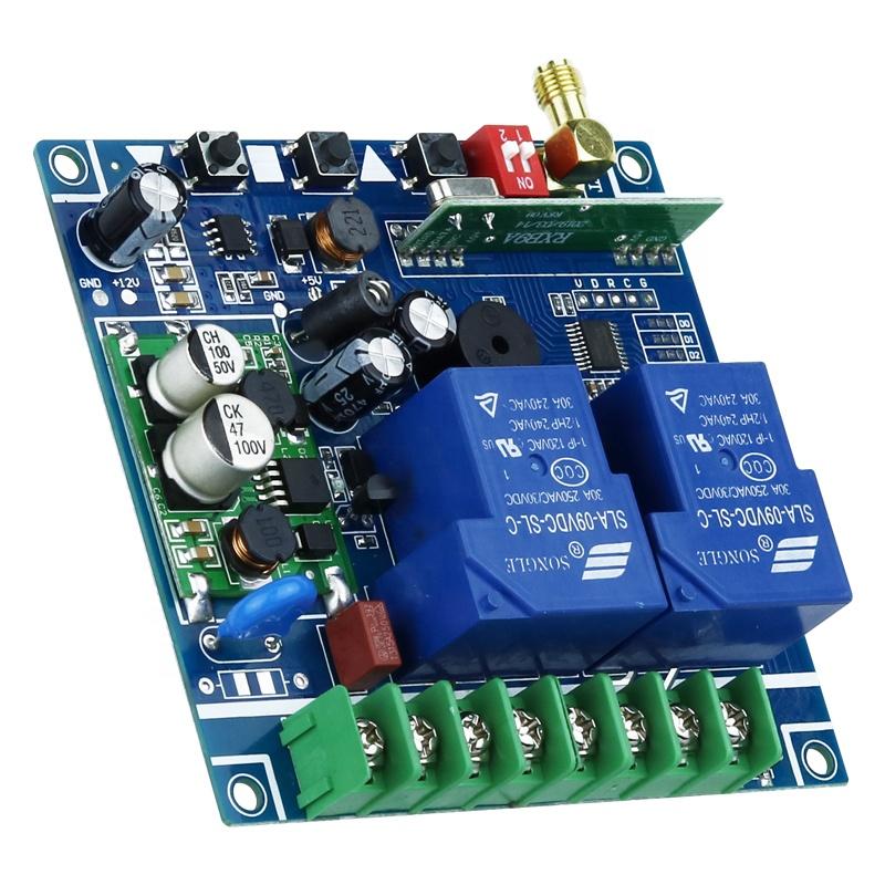 315/433 mhzDC 48V 30A आरएफ रिमोट नियंत्रक के लिए उच्च शक्ति वायरलेस आरएफ रिमोट कंट्रोल स्विच गेट गेराज दरवाजा नियंत्रक