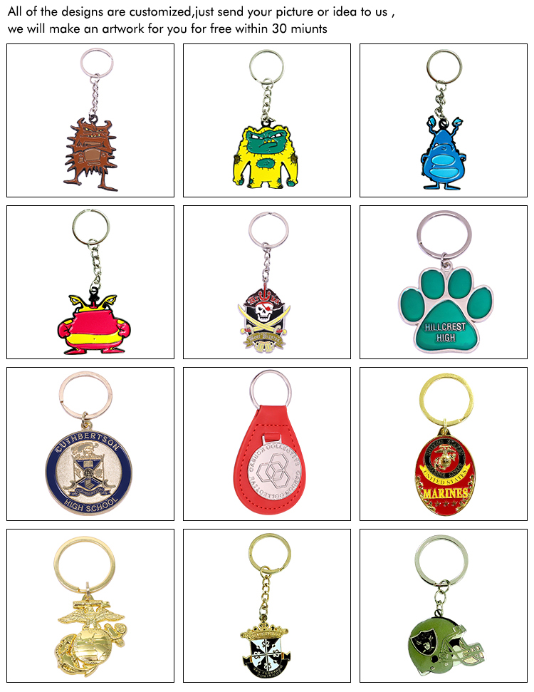 Promotional custom design creative gifts helmet creative keychain